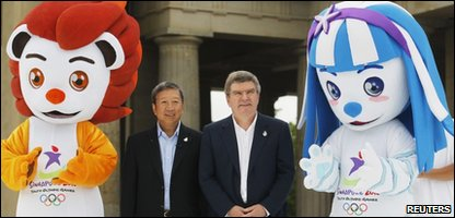 The official 2010 Singapore Youth Olympics mascots