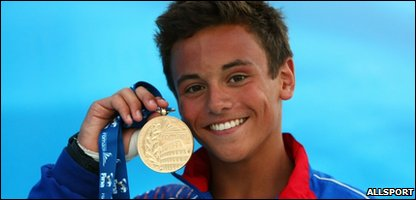 Youth Olympics 2010 Team GB leader diver Tom Daley