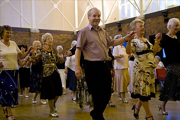 Elderly Dancing Cornwall police tea dance