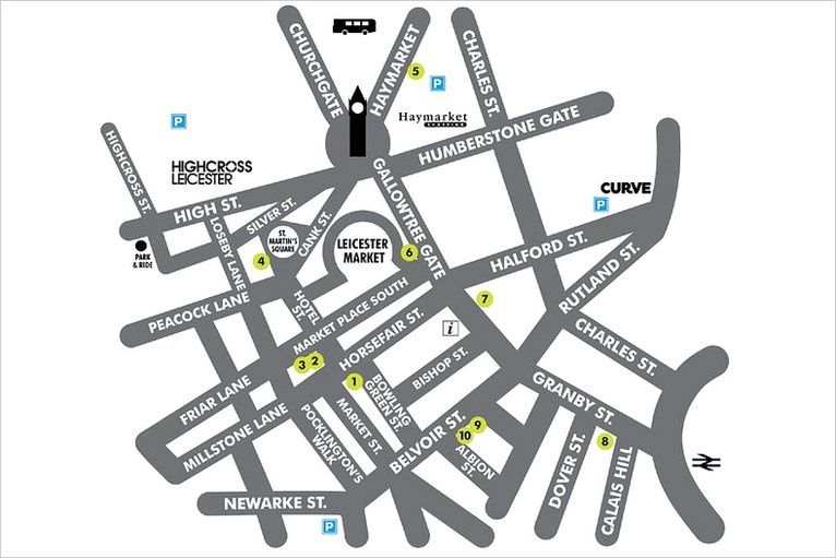Leicester City Uk Map.Bbc In Pictures Artists Showcase Work On Leicester Art Walk