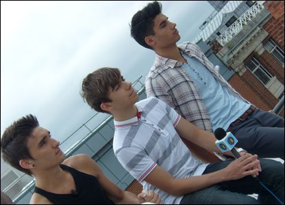 Tom, Nathan and Siva from The Wanted