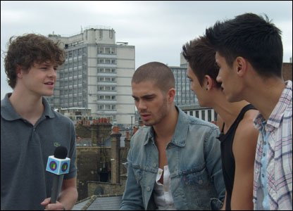 The Wanted meet Newsround