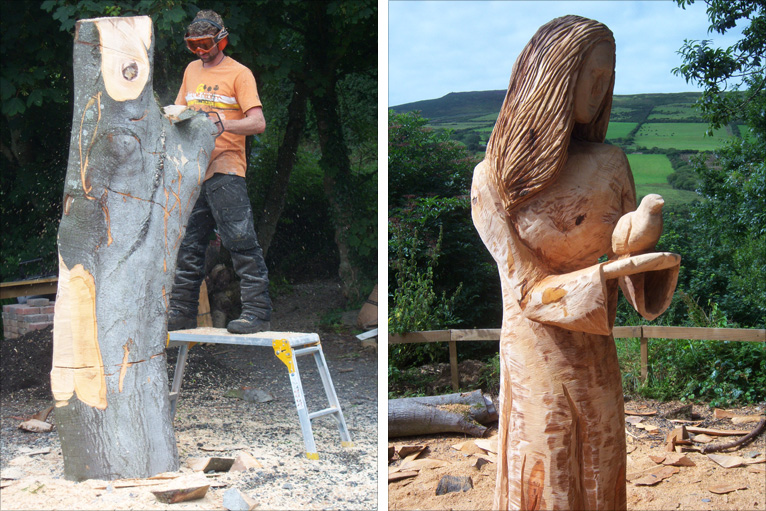 Bbc manx chainsaw artist turns dead trees into works of art