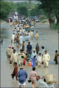Flood survivors in Pakistan