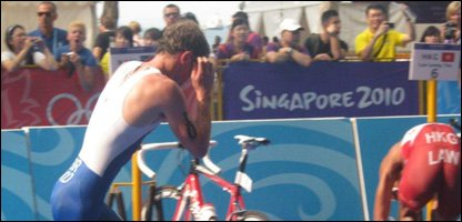 Andy Hood did really well in the Triathlon.