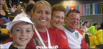 Jade Jones' family have come all the way from Wales to support her.