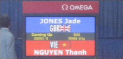 Jade Jones' got through to the Taekwondo final at the Youth Olympic Games.