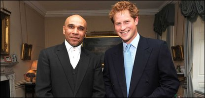 DJ Goldie with Prince Harry
