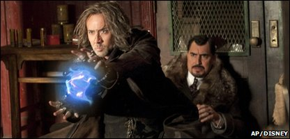 Nicholas Cage and Alfred Molina in The Sorcerer's Apprentice