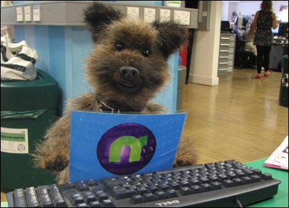 Hacker in the newsround office