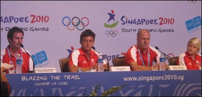 Team GB divers press conference