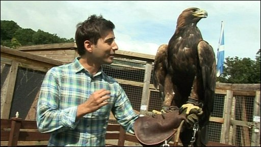 Ricky and an eagle
