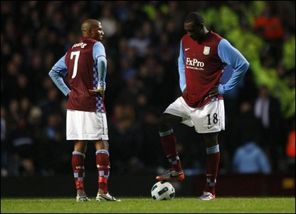 Aston Villa crashed out of the Europa League