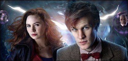 Amy Pond (Karen Gillan) and Doctor Who (Matt Smith)