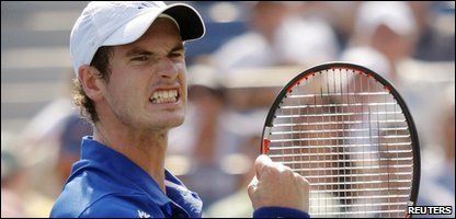 Andy Murray wins his first round US Open match against Lukas Lacko