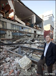 New Zealand earthquake - Prime Minister John Key surveys the damage