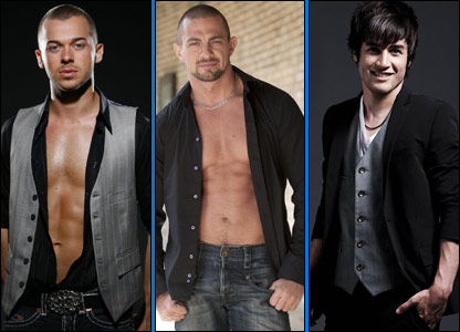 Some of Strictly's new dancers: (L-R) Artem Chigvintsev, Robin Windsor and Jared Murillo