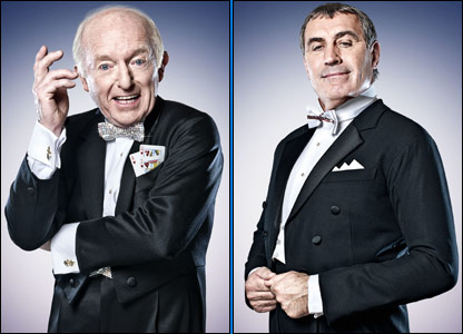Magician Paul Daniels and former England goalie Peter Shilton