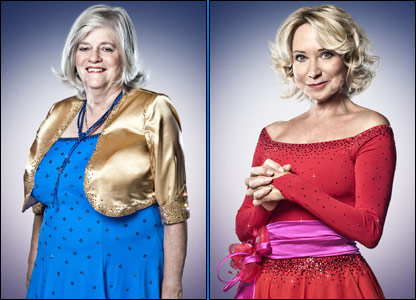 Former Conservative politician Ann Widdecombe and actress Felicity Kendall