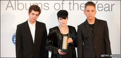 The xx, winners of the Mercury Music Prize