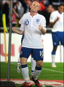 England v Switzerland Euro 2012 qualifier - Wayne Rooney celebrates goal
