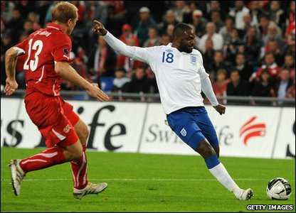 England v Switzerland Euro 2012 qualifier - Darren Bent scores