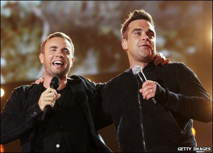 But the night belonged to Gary Barlow and Robbie Williams - who performed their newest single Shame. Its the first time in 15 years the pair have sung on stage together!