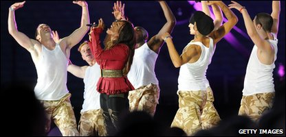 Alexandra Burke performs at the Help for Heroes concert