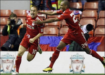It took Liverpool new boy Joe Cole just 27 seconds to put the Reds in the lead in their Europa League match against Steaua Bucharest at Anfield.