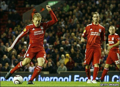 Brazilian midfielder Lucas Leiva added to the scoresheet for Liverpool. The game ended 4-1 after another goal from David Ngog. Boss Roy Hodgson was delighted with the result!