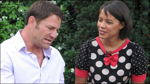 Steve Backshall and Leah