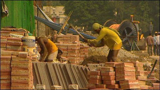 Building work in Delhi, India, host of the Commonwealth Games