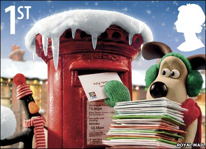 Wallace and Gromit stamps