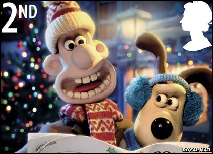 CBBC - Newsround - Wallace and Gromit Christmas stamps