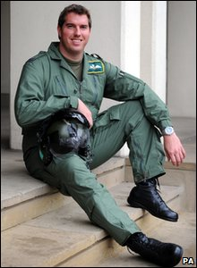 Flight Lieutenant Ian Fortune is one of 131 members of the British armed forces to receive awards for bravery. He flew wounded troops to safety in his helicopter despite being shot.