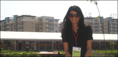 Sonali at the Games village