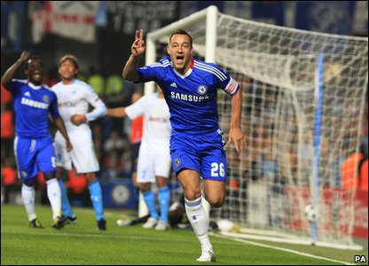 Champions League - Chelsea's John Terry celebrates goal