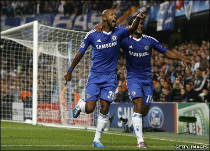 Champions League - Chelsea's Nicolas Anelka celebrates his goal