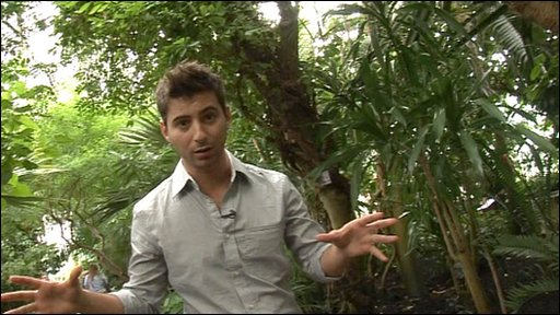 Ricky at Kew Gardens, reporting on the story that some of the world's plants could become extinct