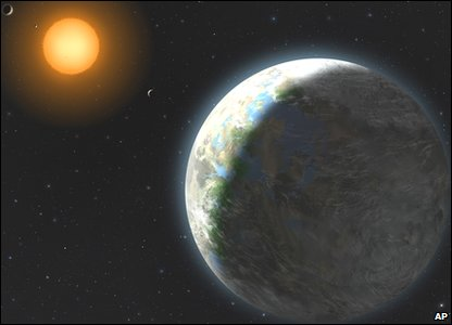 Artist's impression of new Earth-like planet discovered by astronomers