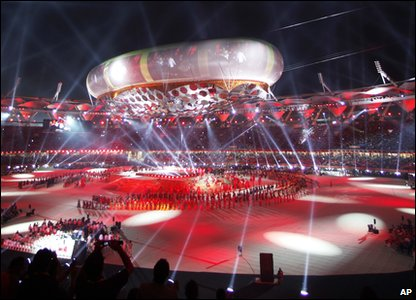 About 60,000 people packed the Jawaharlal Nehru Stadium in Delhi on Sunday to watch the Commonwealth Games Opening Ceremony.