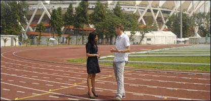 Sonali and Steve Cram