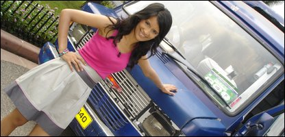 Sonali outside bus