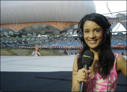 Sonali at the stadium