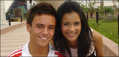 Tom Daley and Sonali in Delhi