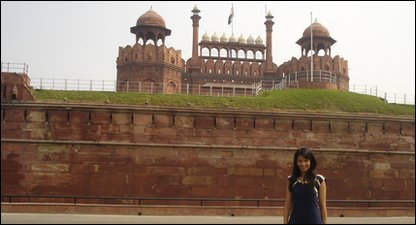Sonali at Red Fort, in Delhi, India