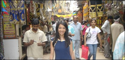 Sonali at Chandni Chowk in Delhi - one of India's oldest and busiest markets