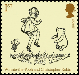 Pooh bear and Christopher Robin