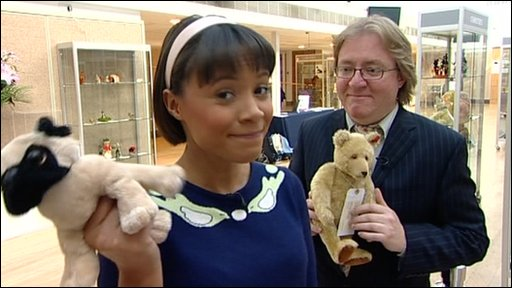 Leah at teddy bear and soft toy auction