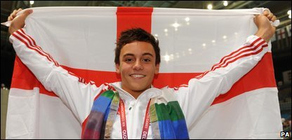 Tom Daley wins another gold medal at the Commonwealth Games in Delhi.